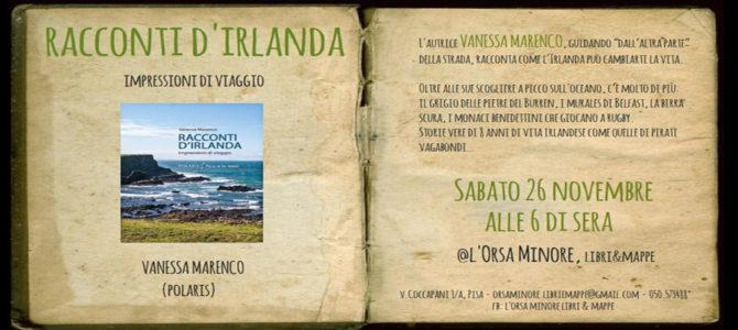 """Presentazione alla libreria """"Orsa Minore"""" di Pisa – sabato 26/11/2016"""