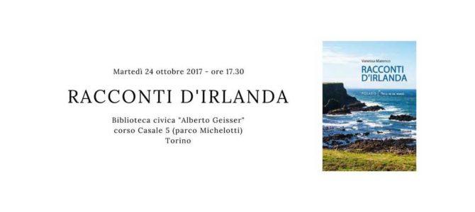 "My ""Racconti d'Irlanda"" in Torino – Biblioteca A. Geisser!"